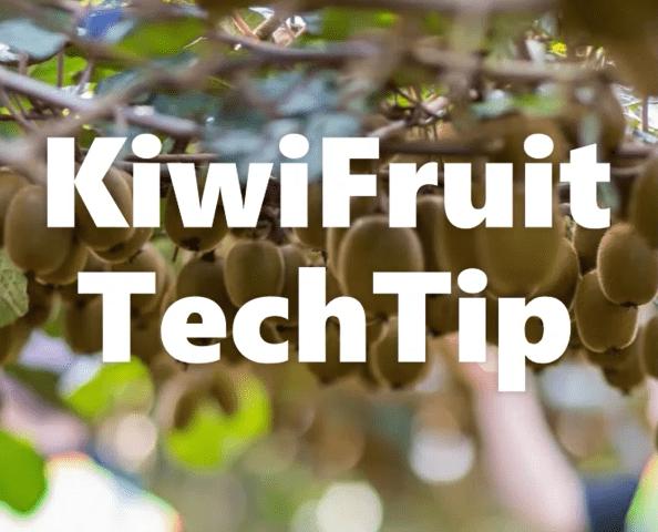 KiwiFruit TechTip Week 12